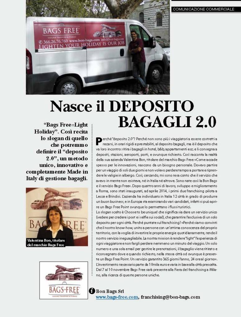 Articolo sulla rivista Millionarie di Settembre 2014