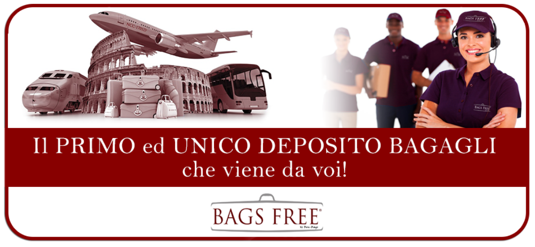 Bags Free Luggage Storage! The cheapest price of Rome!