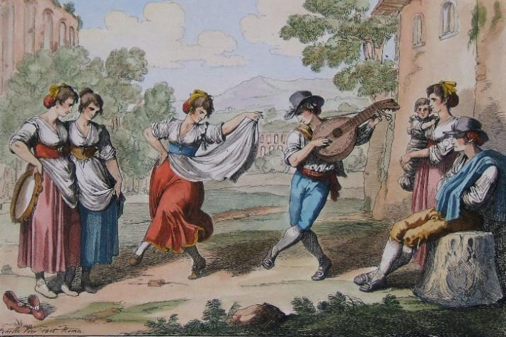 Il ballo del Saltarello (dal sito Romasparita.eu)