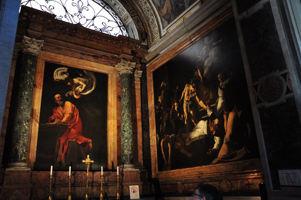 Caravaggio, Via Giustiniani, Roma - photo Antunes