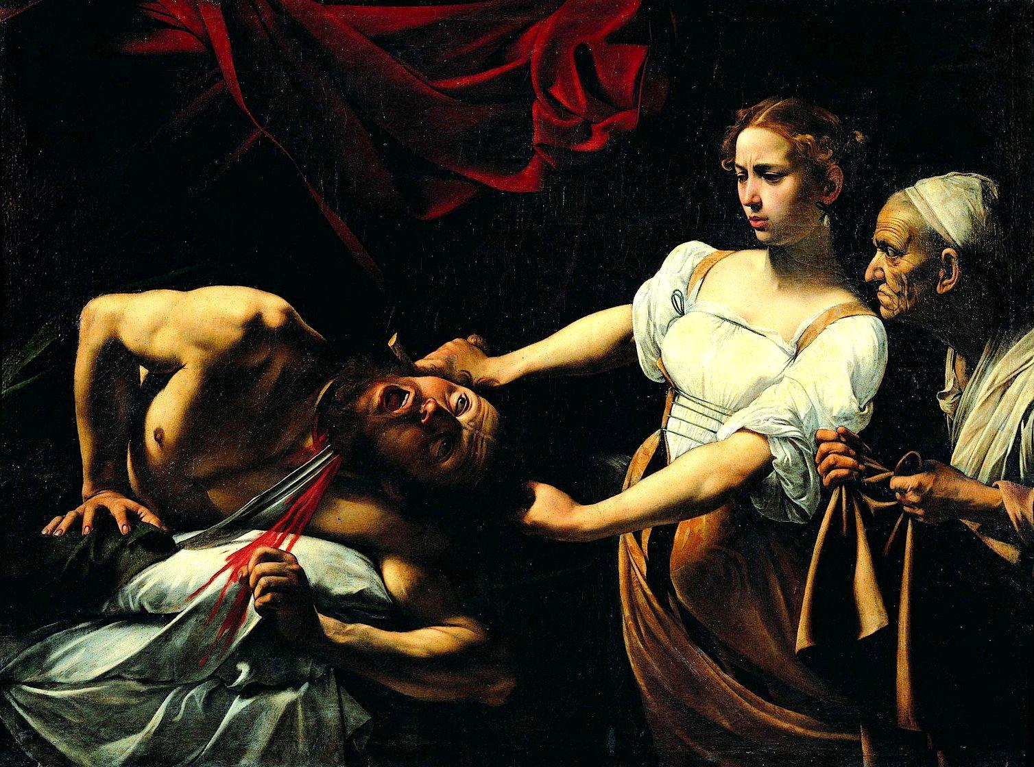 Caravaggio - Giuditta taglia la testa ad Oloferne - Palazzo Barberini, Roma