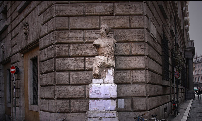 "Pasquino, the first ""talking statue"" of Rome"