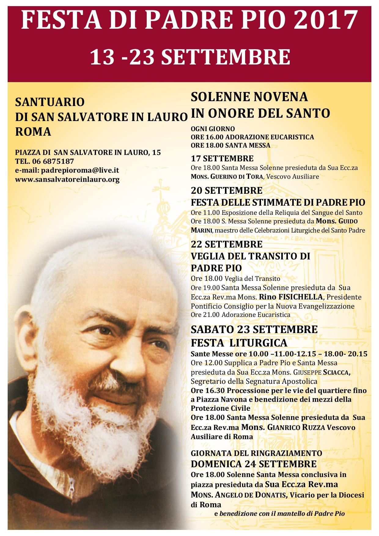Festa di Padre Pio 2017