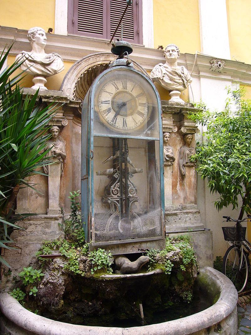 Orologio ad acqua di Palazzo Berardi - Foto Lalupa