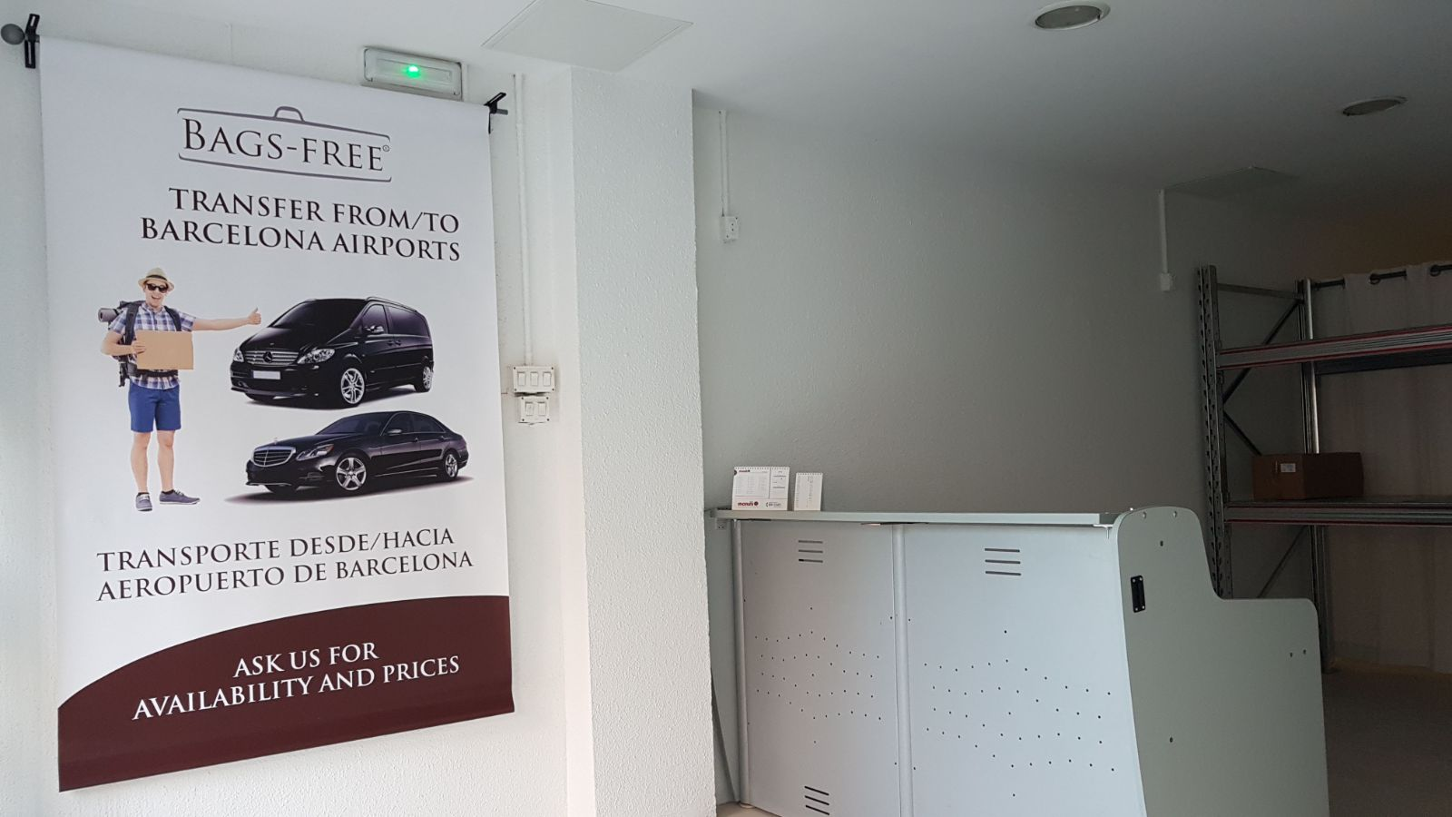 Barcelona, the first photos of the luggage storage #BagsFree #EasyInEurope